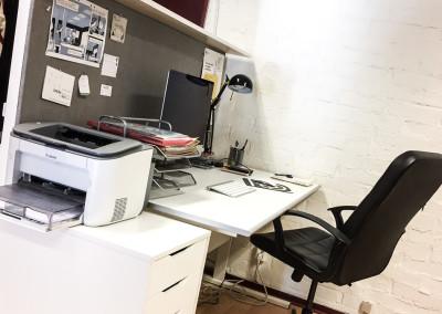 Arbetsplats 1 i stora rummet (ledig f.o.m 1 mars)